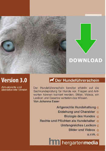 Hundeführerschein als Downloadversion