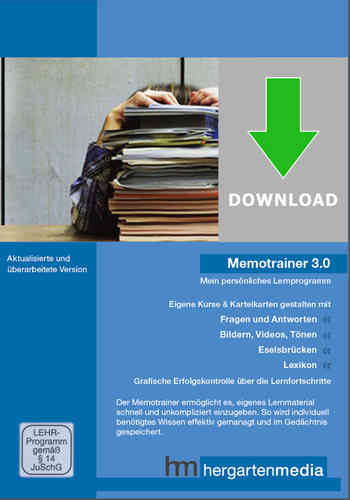 Memotrainer 3.0 als Downloadversion